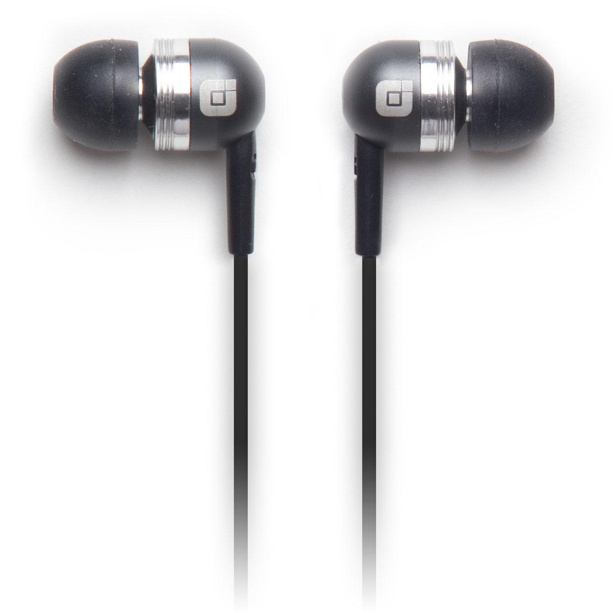 Earjax Bump Gun Metal Grey Earbuds with In line Mic