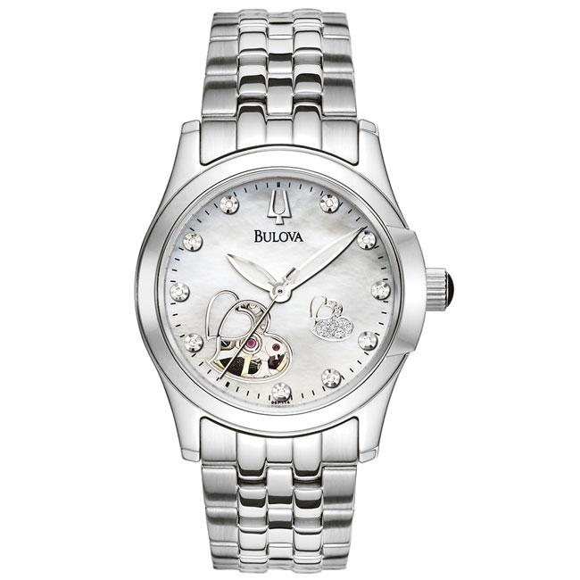 Bulova Women's 'BVA-Series' Automatic White Mother Of Pearl Dial Watch
