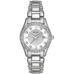 Bulova Women's Stainless Steel Diamond Accent Watch