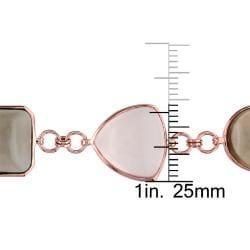 Miadora 14k Pink Gold Multi-gemstone Bracelet