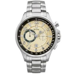 Bulova 'Adventurer' Chronograph Men's Vintage Beige Dial Watch.