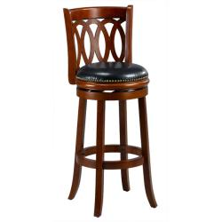 Cameron Cherry Spiral Back Swivel Bar Stool