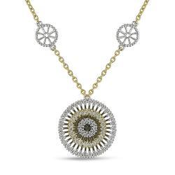 Miadora 18k Two-tone Gold 1 1/4ct TDW Diamond Necklace (G-H, SI1-SI2)