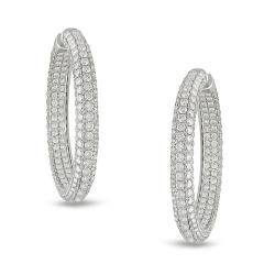 Miadora Signature Collection 18k White Gold 14 5/8ct TDW Diamond Earrings (G-H, SI1-SI2)