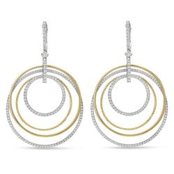 Miadora Signature Collection 18k Two-tone Gold 2 1/3ct TDW Diamond Earrings (G-H, SI1-SI2)