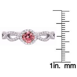 14k White Gold 1/2ct TDW Pink and White Diamond Ring (H-I, SI1)