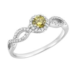 14k White Gold 2/5ct TDW Yellow and White Diamond Ring (H-I, SI1)