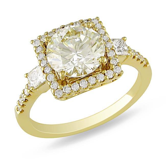 Miadora 18k Gold 2 1/2ct TDW Certified Diamond Ring (G-H, SI1-SI2)