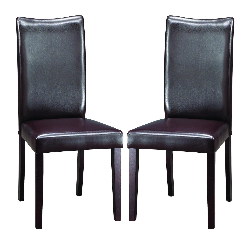 Sweden Dark Brown Modern Dining Chairs (Set Of 2
