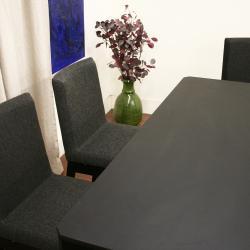 Moira Black 5-piece Modern Dining Set