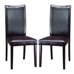 Sweden Dark Brown Modern Dining Chairs (Set of 2)