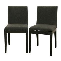 Moira Black Modern Dining Chairs (Set of 2)