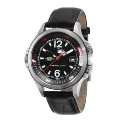 Hamilton Men's 'Khaki Navy' Stainless Steel, Leather Automatic Watch