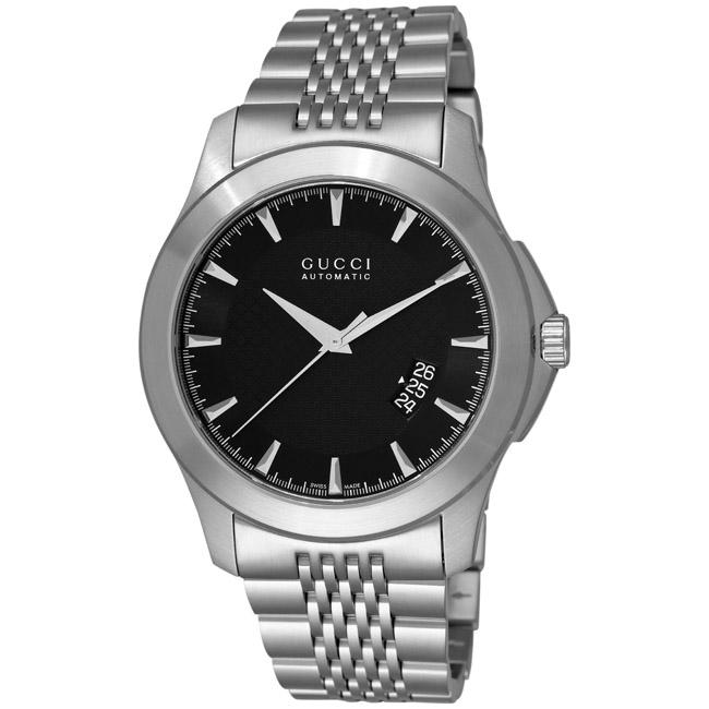 Gucci Men's 'G-Timeless' Black Face Automatic Watch