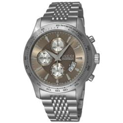 Gucci Men's 'G-Timeless' Brown Face Automatic Chronograph Watch