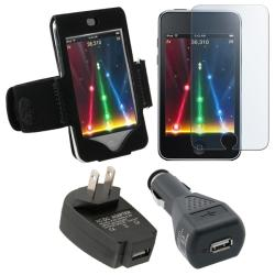 4-piece Armband/ Car Charger for Apple iPod Touch