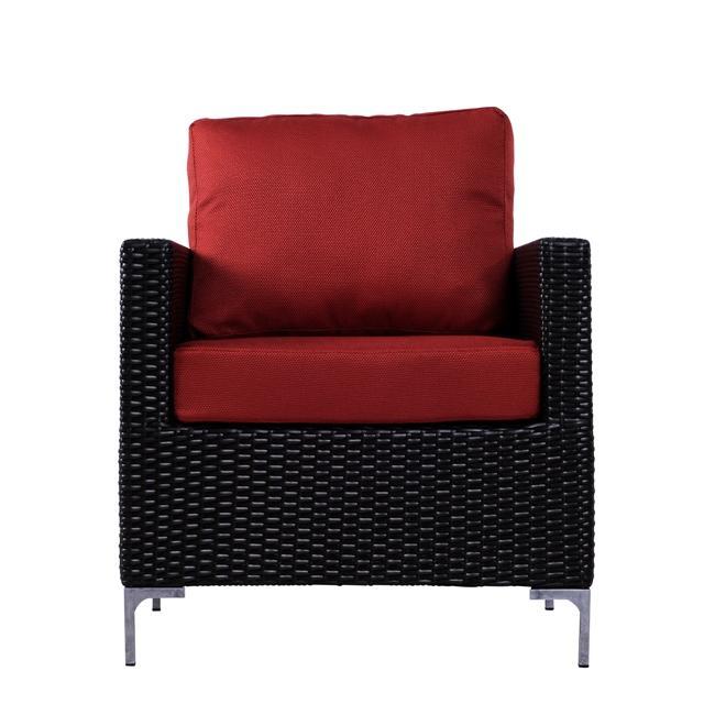 Rendi Cayenne Red Indoor/ Outdoor Resin Wicker Arm Chair