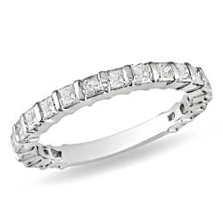Miadora 10k White Gold 1ct TDW Diamond Anniversary Band (G-H, I2-I3)