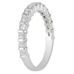 Miadora 10k White Gold 3/4ct TDW Diamond Anniversary Ring (G-H, I2-I3)