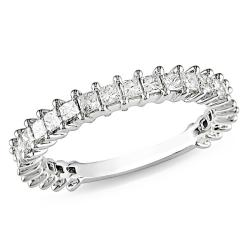 10k White Gold 1ct TDW Diamond Anniversary Ring (G-H, I2-I3)