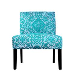 Niles turquoise and white vista arm chair 13360698 overstock com