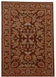Hand-tufted Rusty Brown Oriental Wool Rug (9' x 13')