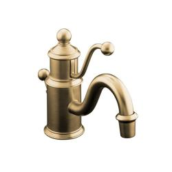 Kohler K-139-BV Vibrant Brushed Bronze Antique Single-Hole Lavatory Faucet With Lever Handle
