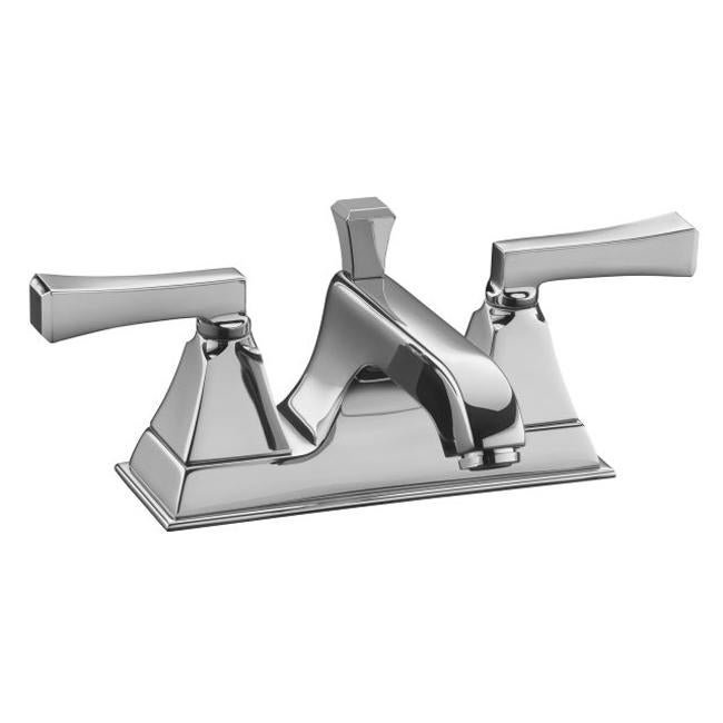 Kohler K-454-4S-CP Polished Chrome Memoirs Widespread Lavatory Faucet ...