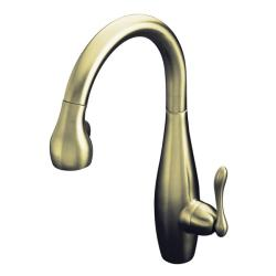 Kohler K-692-BN Vibrant Brushed Nickel Clairette Kitchen Sink Faucet