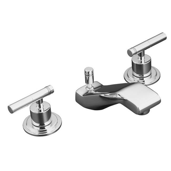 Kohler K-8211-4-CP Polished Chrome Taboret Widespread Lavatory Faucet ...