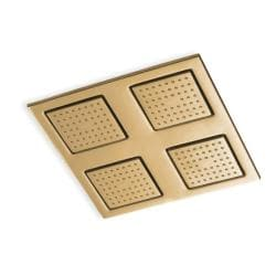 Kohler K-8030-BV Vibrant Brushed Bronze Watertile Square Rain Overhead Showering Panel