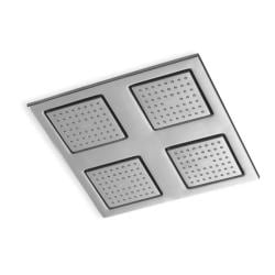 Kohler K-8030-G Brushed Chrome Watertile Square Rain Overhead Showering Panel
