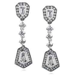 14k White Gold 1 1/2ct TDW Diamond Earrings (F-G, VS1-VS2)