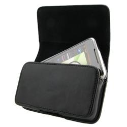 Horizontal Leather Case/ Screen Protector for BlackBerry Curve 3G