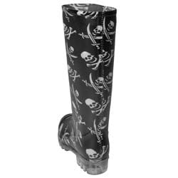 Journee Collection Women's Skull Print Rain Boots