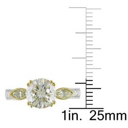 18k Gold 2 1/10ct TDW Certified Diamond Engagement Ring (G-H, SI1-SI2)