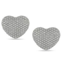 14k White Gold 1 1/2ct TDW Diamond Earrings (G-H, I1-I2)