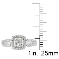 Miadora 18k White Gold 1 1/5ct TDW Diamond Engagement Ring (G, SI1)