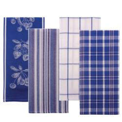 Jacquard Fruit Print 4-piece Towel Set