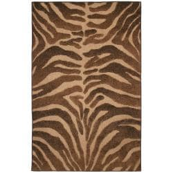 Beige/ Brown Indoor/ Outdoor Animal Rug (8' x 10')
