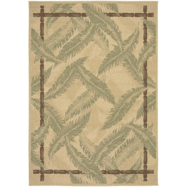 Picnic Tan Botanical Indoor/Outdoor Rug (7'6 x 10'9)
