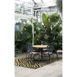 Picnic Zebra Print Indoor/Outdoor Rug (8'9 Round)