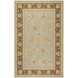 Hand-hooked Bliss Outdoor Silver Sage Rug (5' x 8')