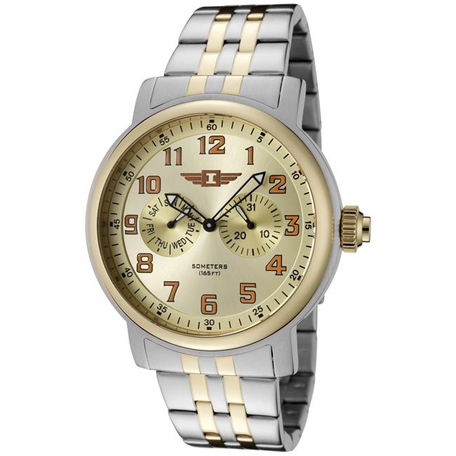 I by Invicta Men's Gold Dial Two-Tone Watch