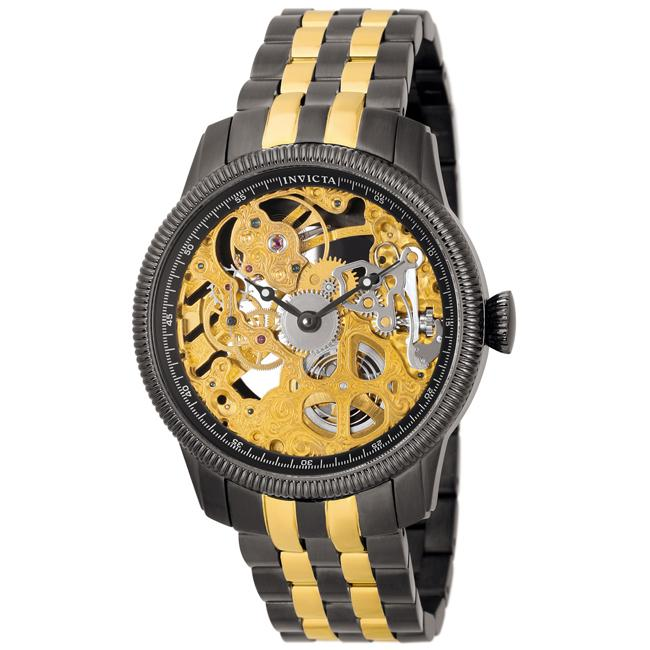 Invicta Women's 'Vintage' Skeletonized Dial Two-Tone Mechanical Watch
