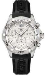 Tag Heuer Men's CAF101F.FT8011 Aquaracer White Chronograph Watch