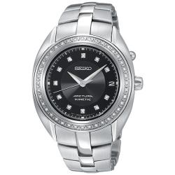 Seiko Women's 'Arctura' Stainless Steel Kinetic Watch