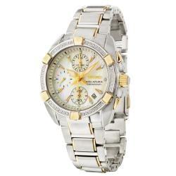Seiko Women's 'Velatura' Two-tone Steel Quartz Diamond Watch