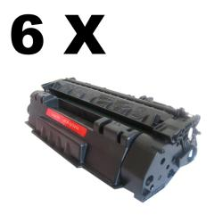 HP Q5949A Black Laser Toner (Pack of 6) (Refurbished)