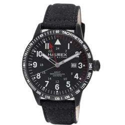 Haurex Italy Men's Red Arrow Black Dial Watch